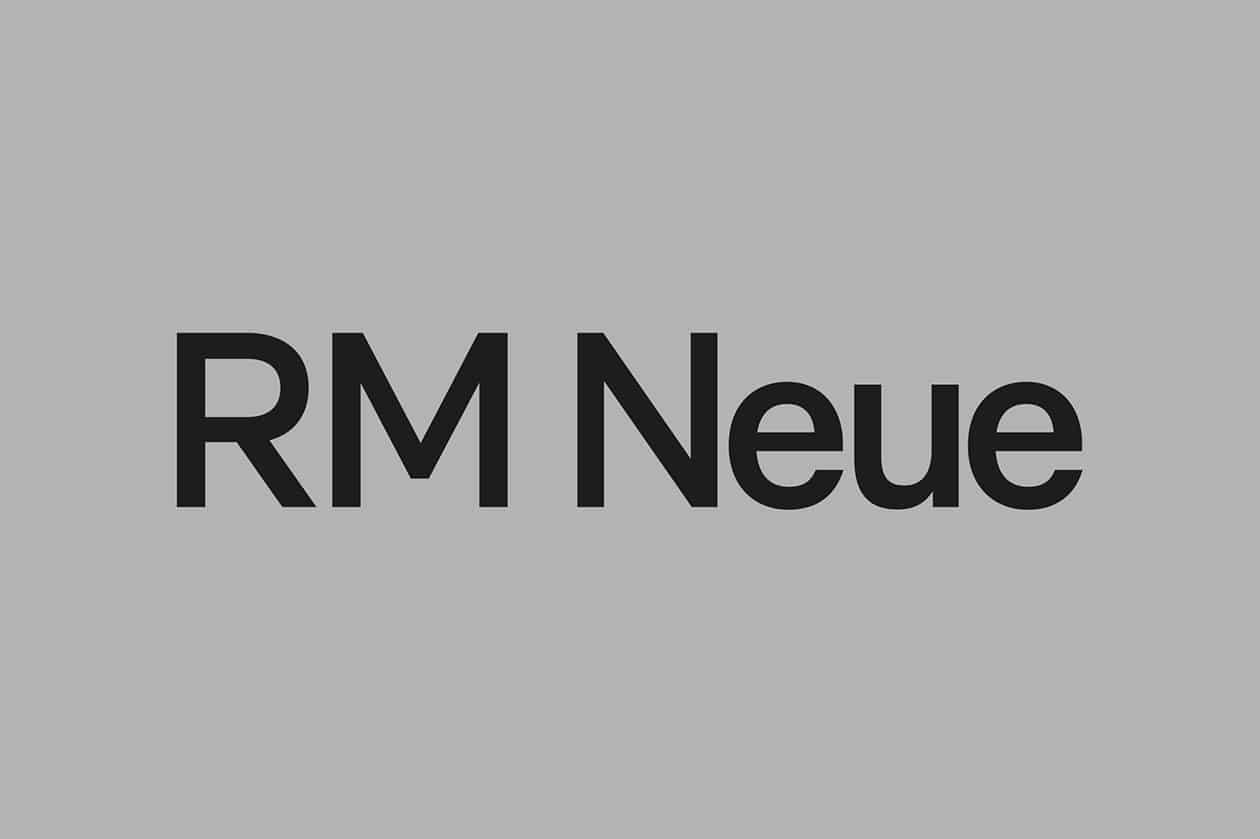RM Neue Font